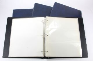 Albums, Banknote albums (4), good albums all with sleeves, Blue finish, used