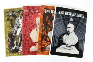 Books (4), a group of paperback books published by Debden Security Printing Limited, The New £5 Note