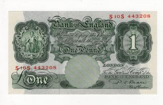 Beale 1 Pound issued 1950, scarce FIRST RUN REPLACEMENT note 'S10S' prefix, serial S10S 443208 (