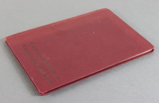 Pass Book, Russian & English Bank current account book no.993 for Jane Williams, showing deposits