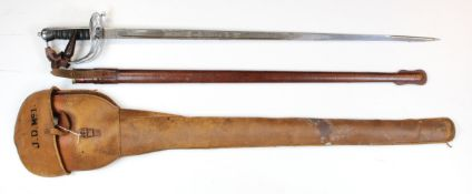 Sword GRV 1897 pattern Rifle Brigade officers made by Wilkinson, London. No. 58885 with engraved