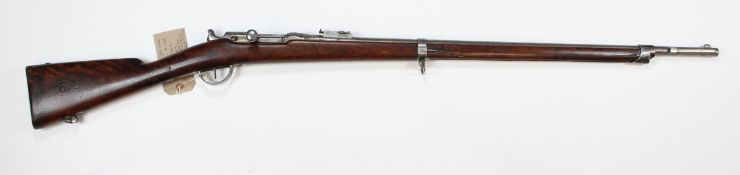 Rifle - a Franco-Prussian War (1870) French Chassepot Service Rifle dated 1868. Calibre 11mm.