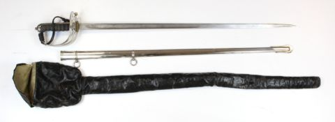 Sword GRV 1827 pattern Rifle Brigade officers made by Wilkinson, London. No. 63069 with engraved