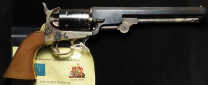 Revolver - a high quality REPLICA of a Colt Model 1851 Navy Revolver, full size, weight and