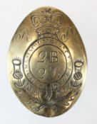 Badge an early Scottish Rifle Volunteers cross belt plate, the reverse shows great age & wear
