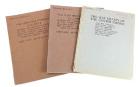 Books - a complete set of original (1925) CWGC Cemetery Registers (3) for the Lone Pine Memorial