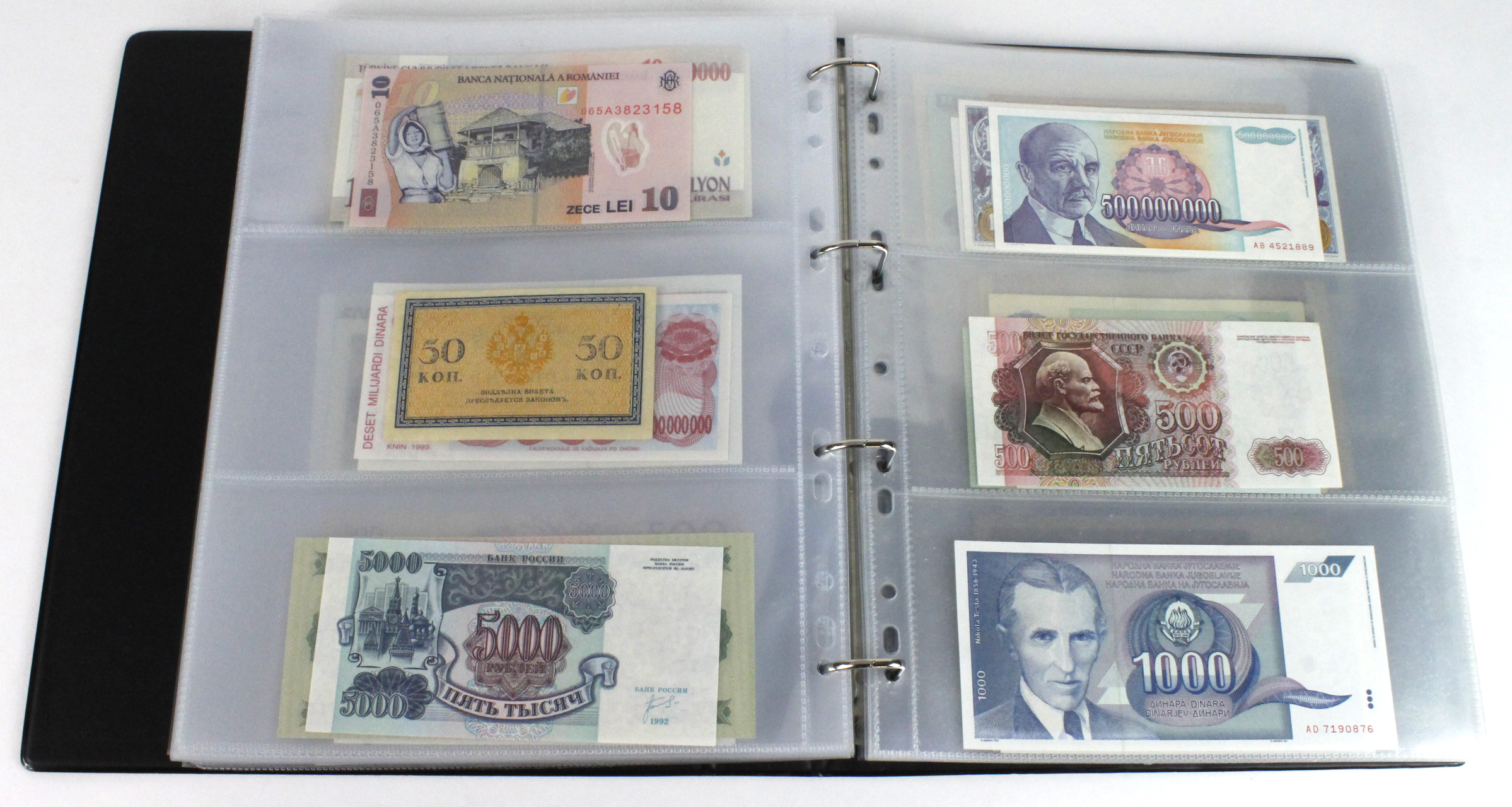 World (163), in banknote album including Bahamas, Spain, Sweden, Netherlands, Algeria, Macau, - Image 43 of 57