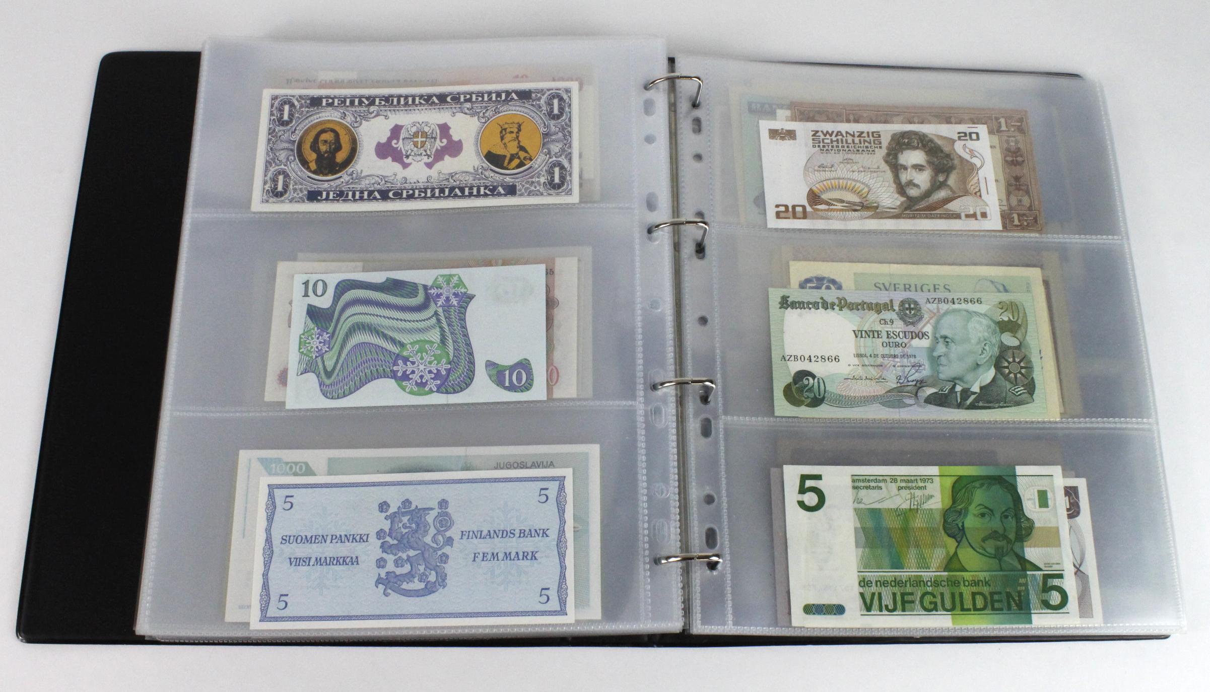 World (163), in banknote album including Bahamas, Spain, Sweden, Netherlands, Algeria, Macau, - Image 45 of 57