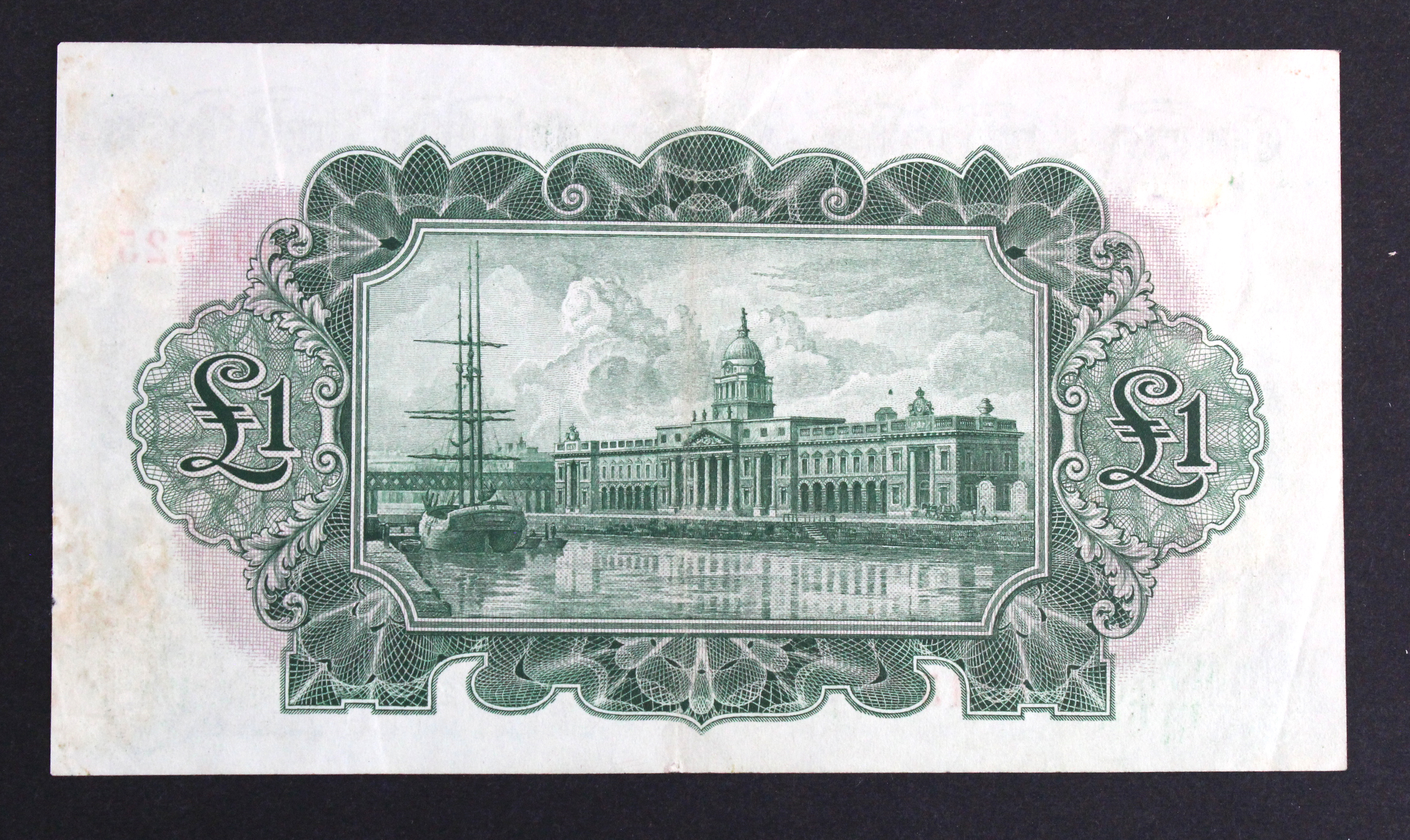 Ireland Republic 1 Pound dated 29th May 1936, The Bank of Ireland 'Ploughman' issue, serial 60BA - Image 2 of 2