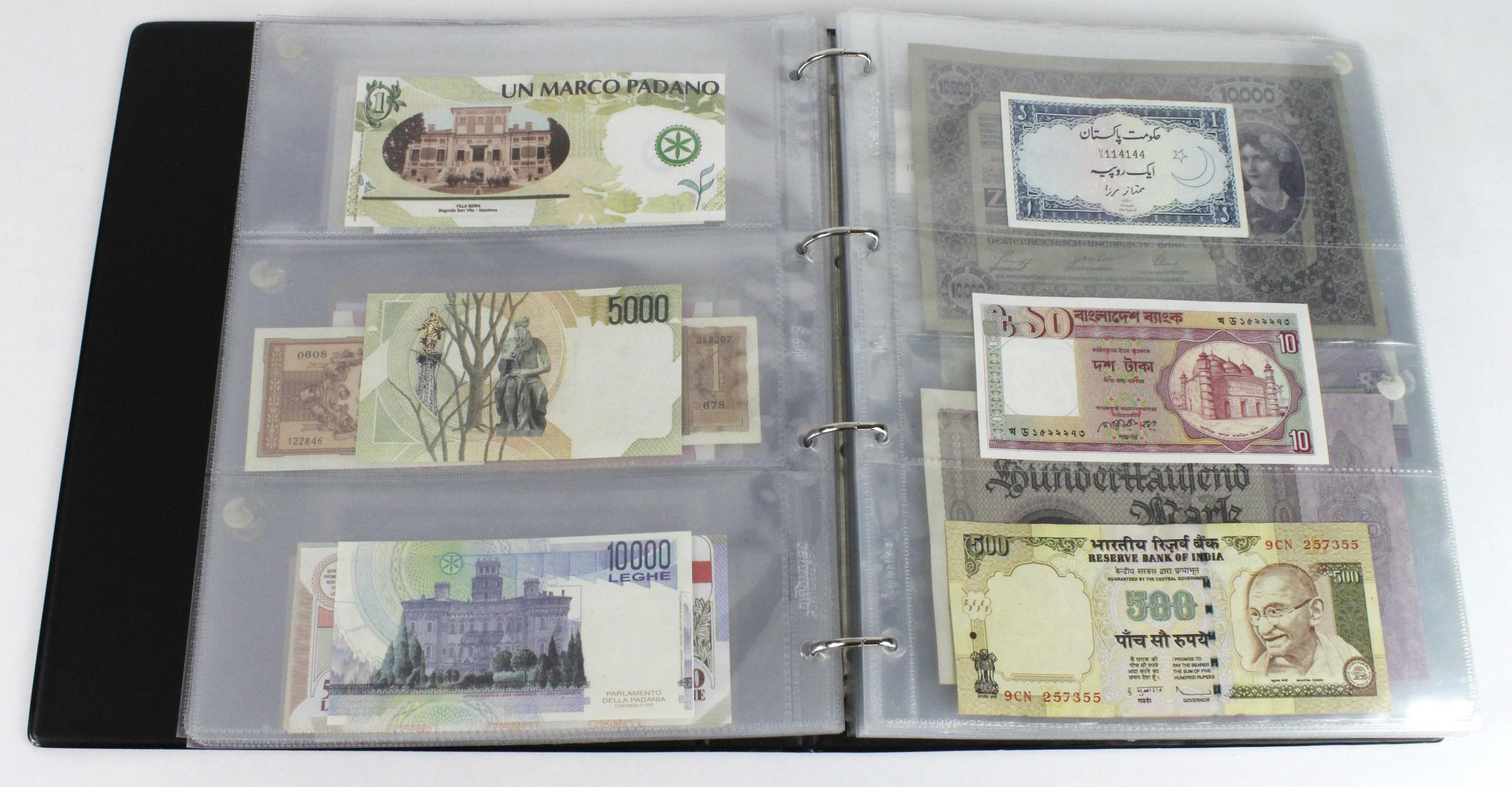 World (163), in banknote album including Bahamas, Spain, Sweden, Netherlands, Algeria, Macau, - Image 20 of 57