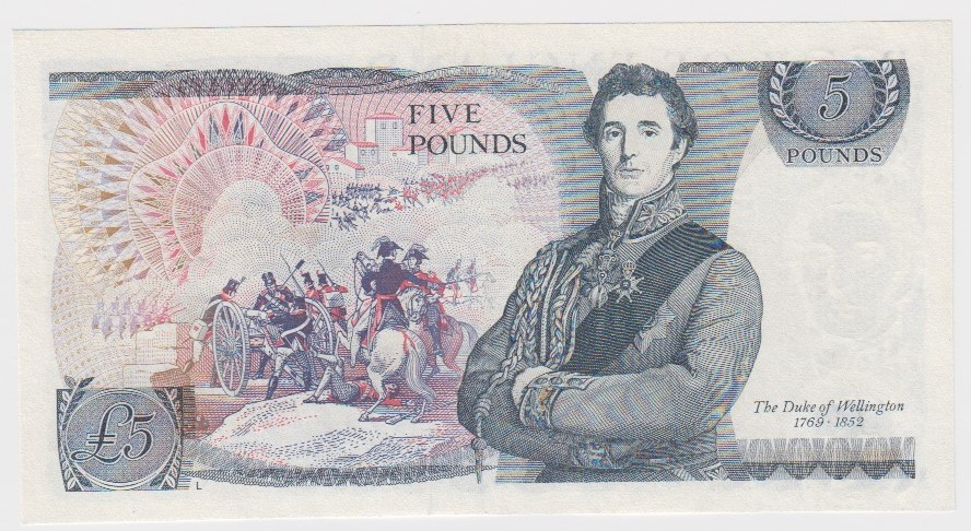 Page 5 Pounds issued 1973, very rare FIRST RUN '01A' prefix, serial 01A 661143 (B334, Pick378b) - Image 2 of 2