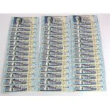 Mauritius (80), 50 Rupees dated 2001 (40), a consecutively numbered run of 49 notes plus one
