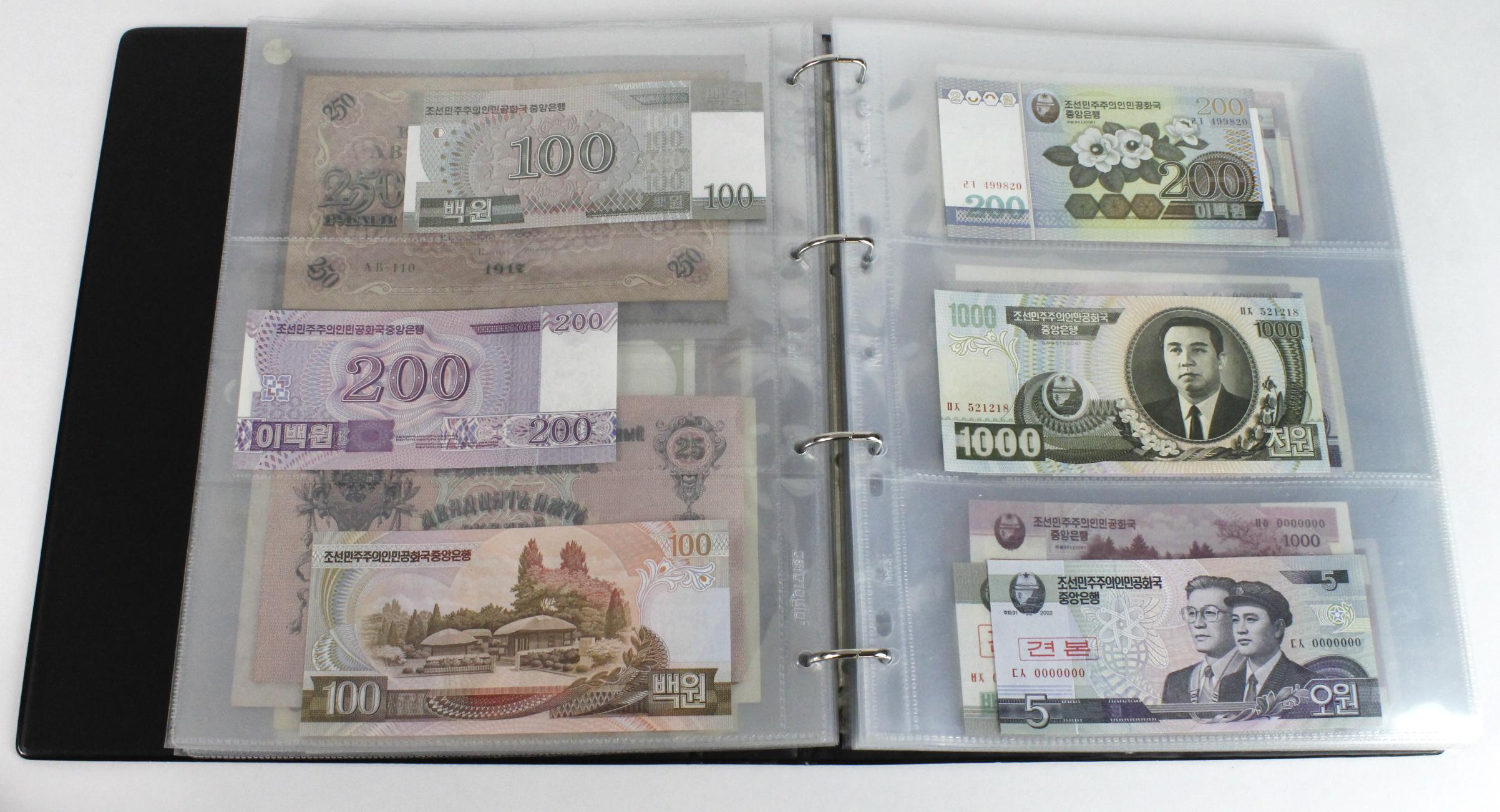 World (163), in banknote album including Bahamas, Spain, Sweden, Netherlands, Algeria, Macau, - Image 24 of 57