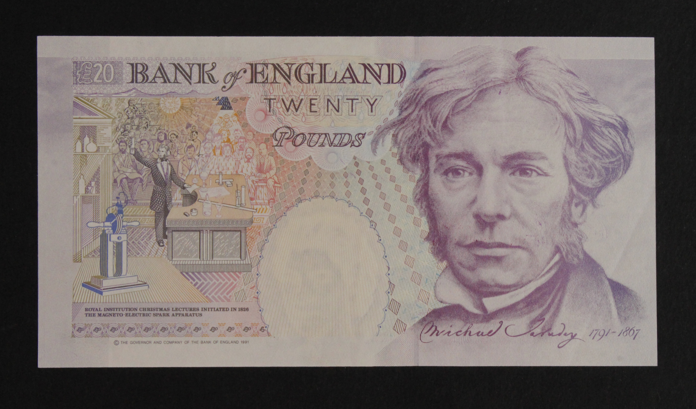 Gill 20 Pounds issued 1991, FIRST SERIES serial A24 220685 (B358, Pick384a) EF - Image 2 of 2