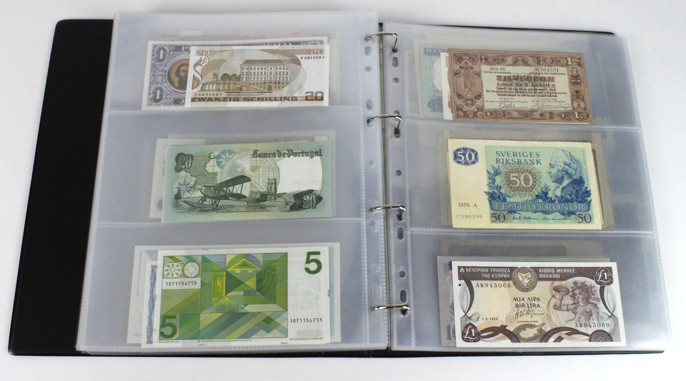 World (163), in banknote album including Bahamas, Spain, Sweden, Netherlands, Algeria, Macau, - Image 46 of 57