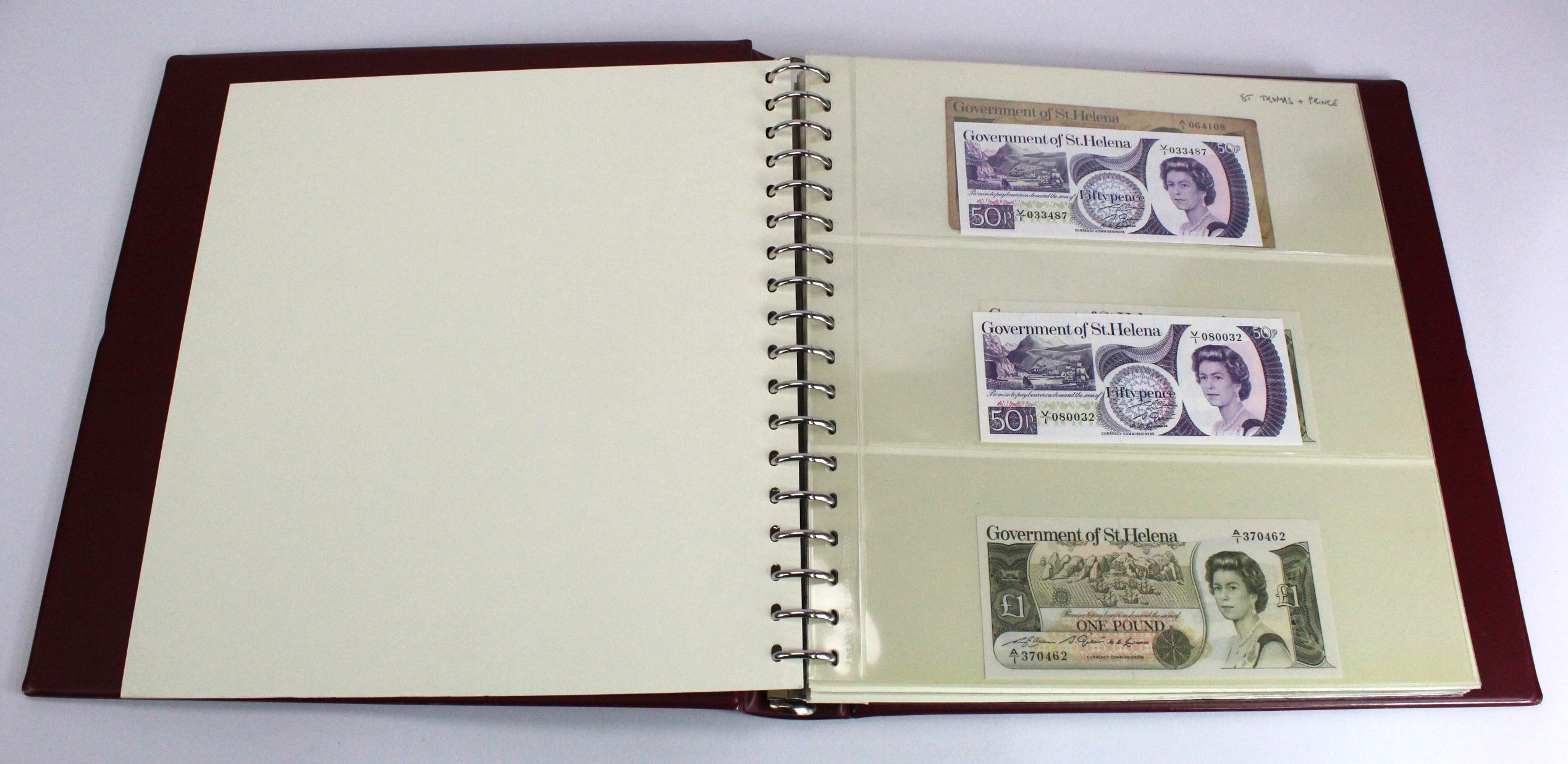 World (200), collection in 2 Lindner albums, countries S, Saint Helena - Syria, some duplication,