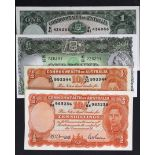 Australia (4) a collection of King George VI portrait notes, 10 Shillings (2) issued 1942 & 1949,