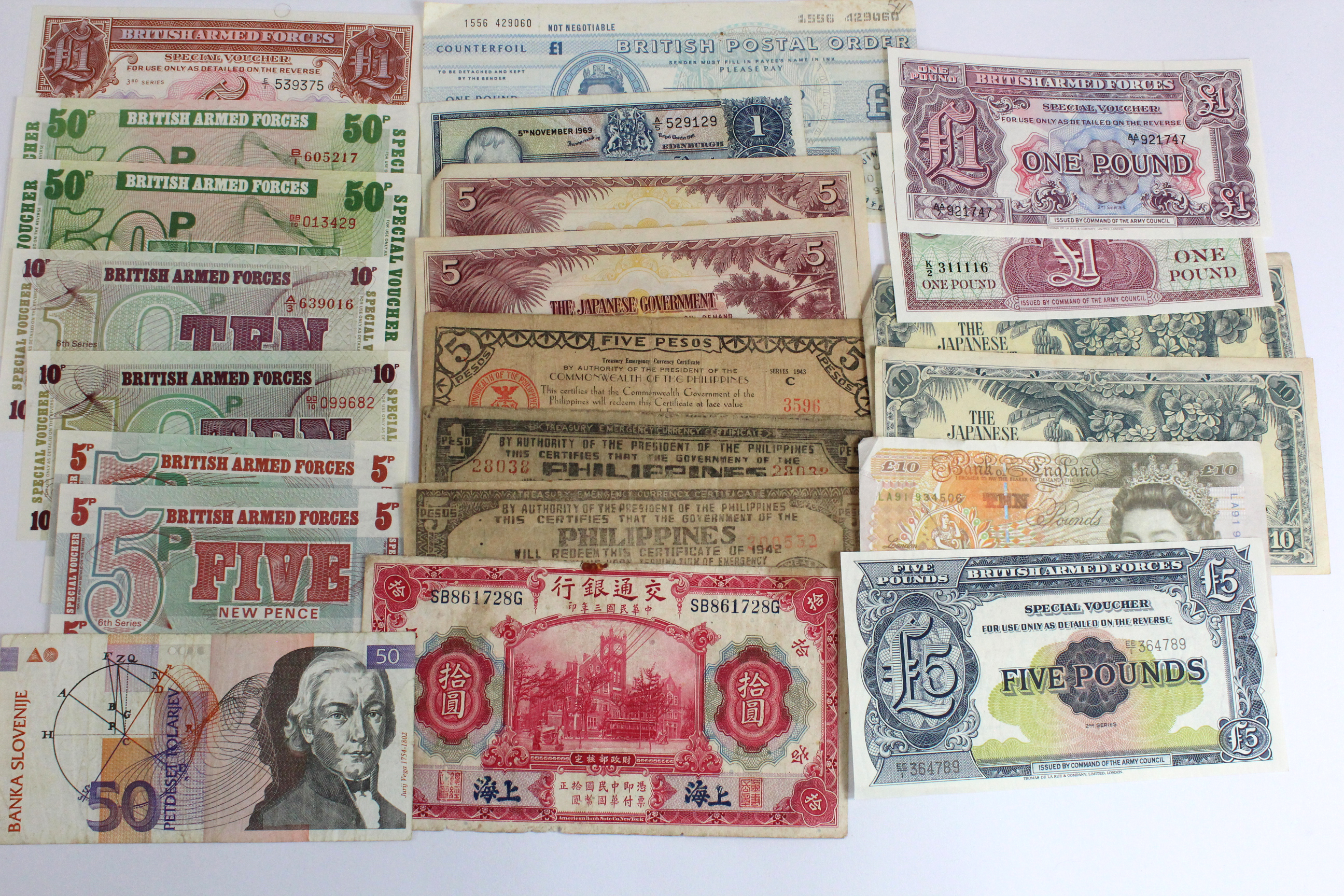 World (175), including a group of Scotland notes, Bahamas from 1960's, a bundle of 100 x British - Image 2 of 2