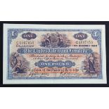 Scotland, Clydesdale Bank 1 Pound dated 14th December 1949, signed John Campbell & R. R. Houston,