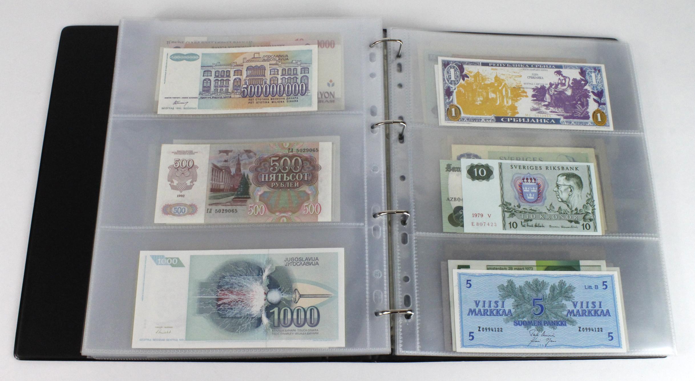 World (163), in banknote album including Bahamas, Spain, Sweden, Netherlands, Algeria, Macau, - Image 44 of 57