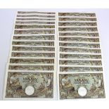 Serbia 1000 Dinara (25) dated 1st May 1941 (TBB B303a, Pick24) mixed grades, some pressed, the