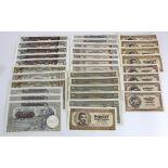 Serbia (32) 1000 Dinara (5) dated 1941 (Pick24), 1000 Dinara (3) dated 1942 (Pick32a), 500 Dinara (