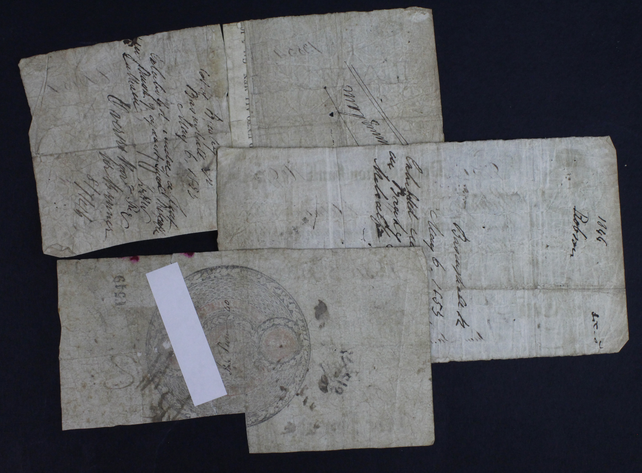 Provincial Notes (3), Dover Union Bank 5 Pounds and 10 Pounds dated 1846, serial No. 13854 & 975 for - Image 2 of 2