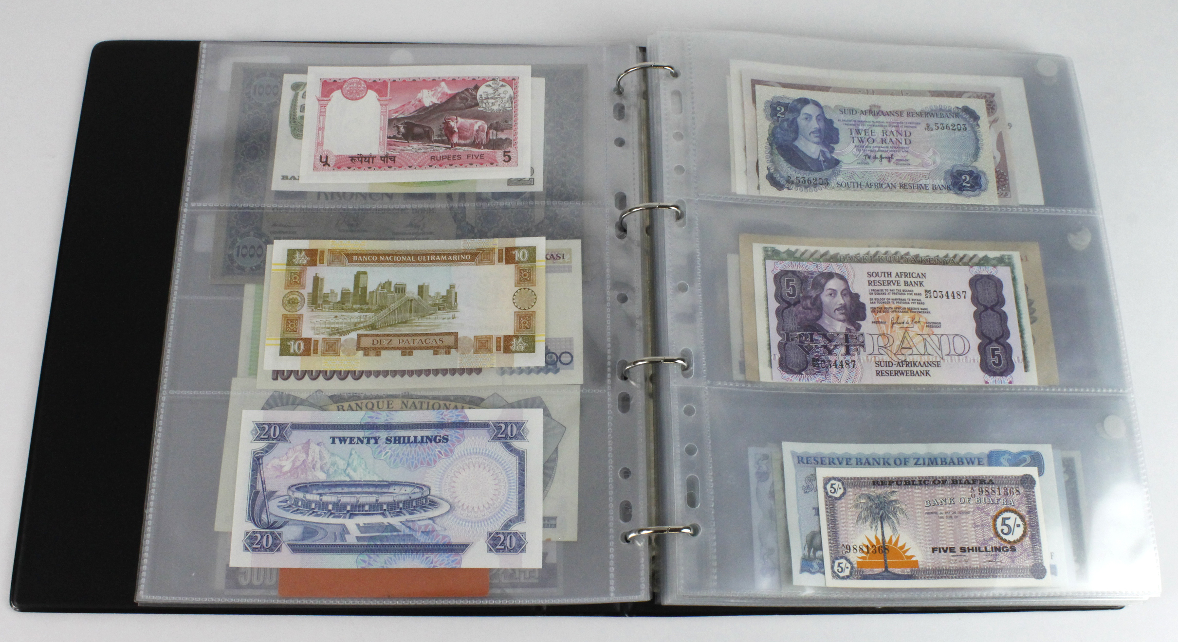 World (163), in banknote album including Bahamas, Spain, Sweden, Netherlands, Algeria, Macau, - Image 9 of 57
