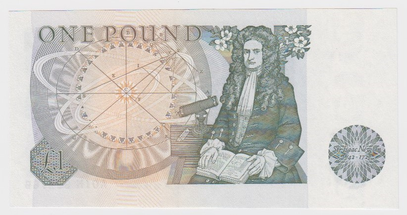 Page 1 Pound issued 1978, rare FIRST RUN note, serial A01N 692766 (B340, Pick377a) Uncirculated - Image 2 of 2