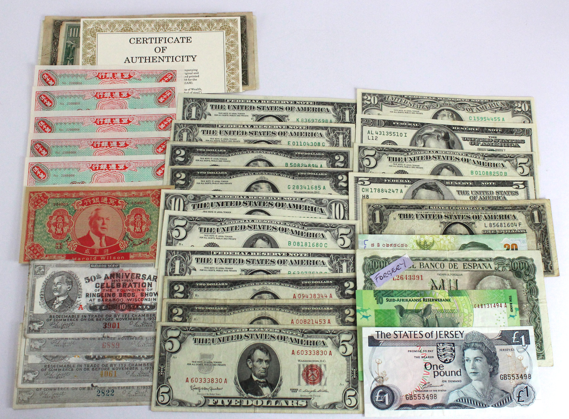 World (39), Cambodia, Cuba, Guernsey, Ireland, Jersey, South Africa, Spain, Thailand, USA, Disney - Image 2 of 2
