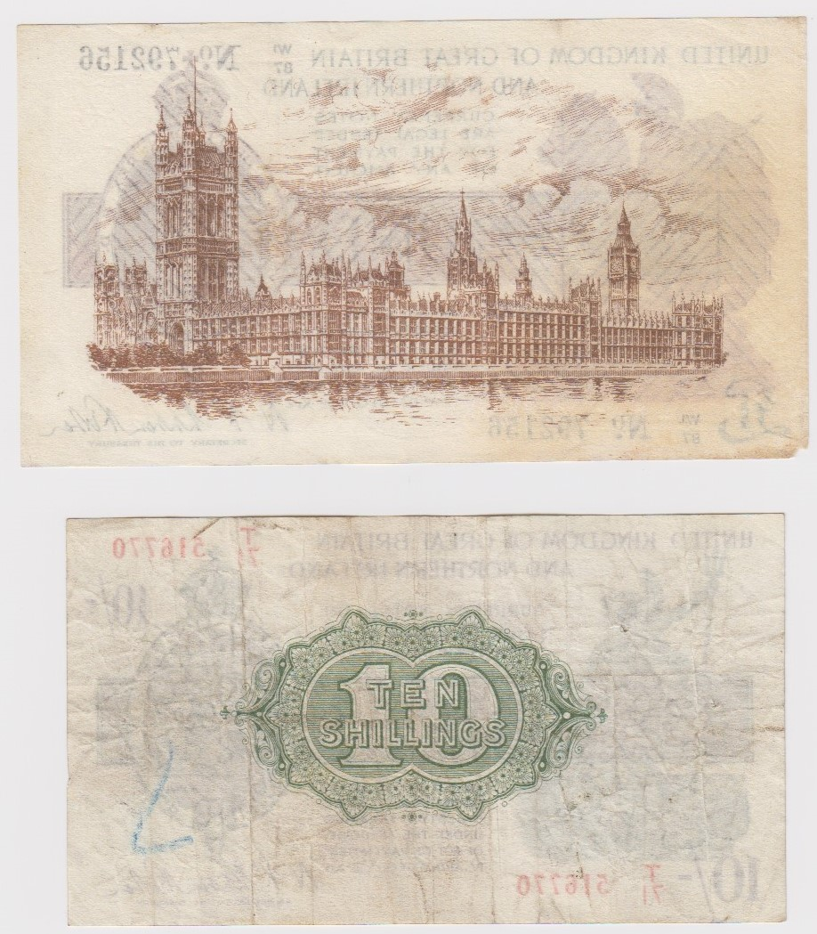 Warren Fisher (2) issued 25th July 1927, rarer Great Britain and Northern Ireland issue, 1 Pound - Image 2 of 2