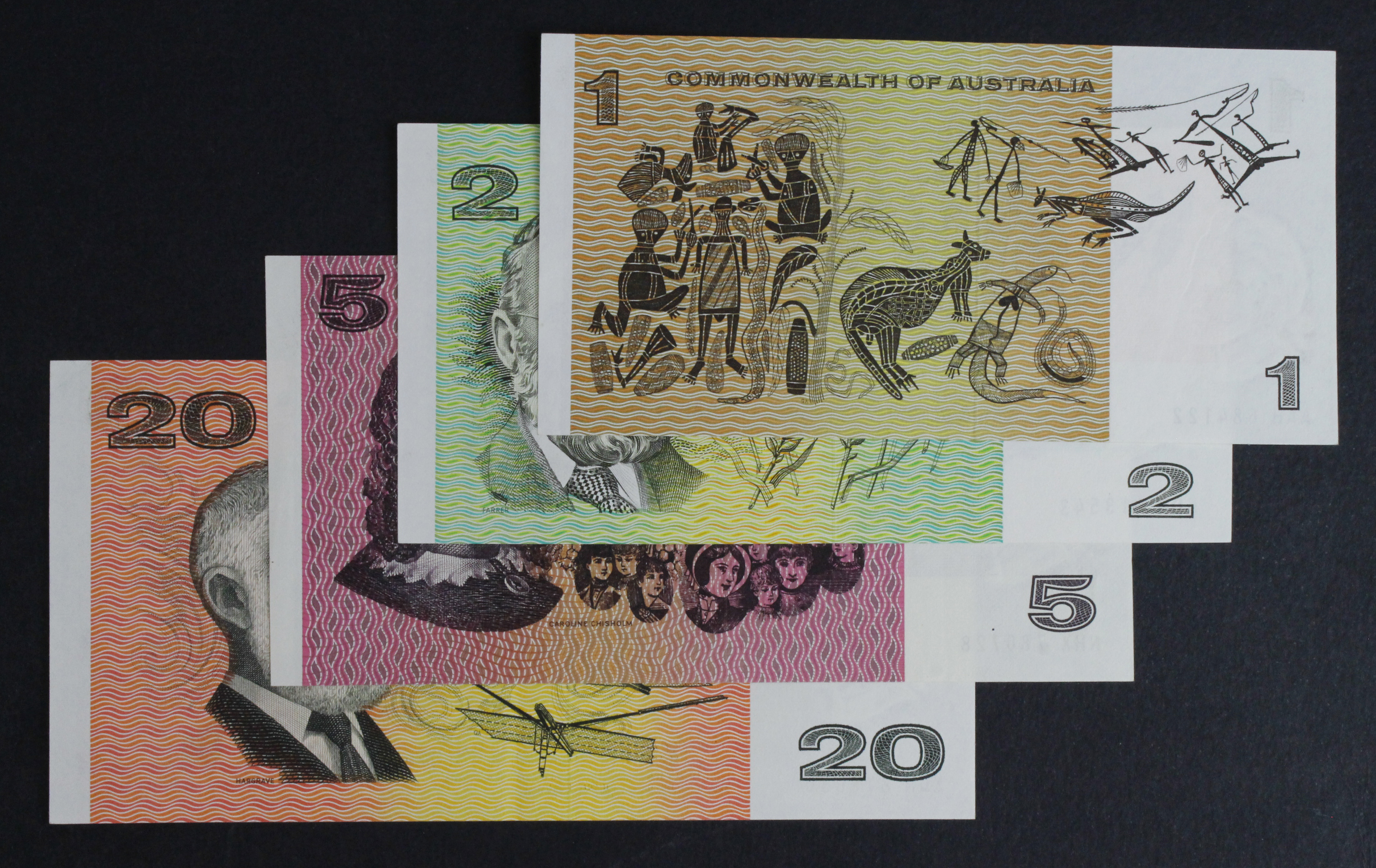 Australia (4), a group of earlier Commonwealth of Australia issues, 20 Dollars, 2 Dollars & 1 Dollar - Image 2 of 2