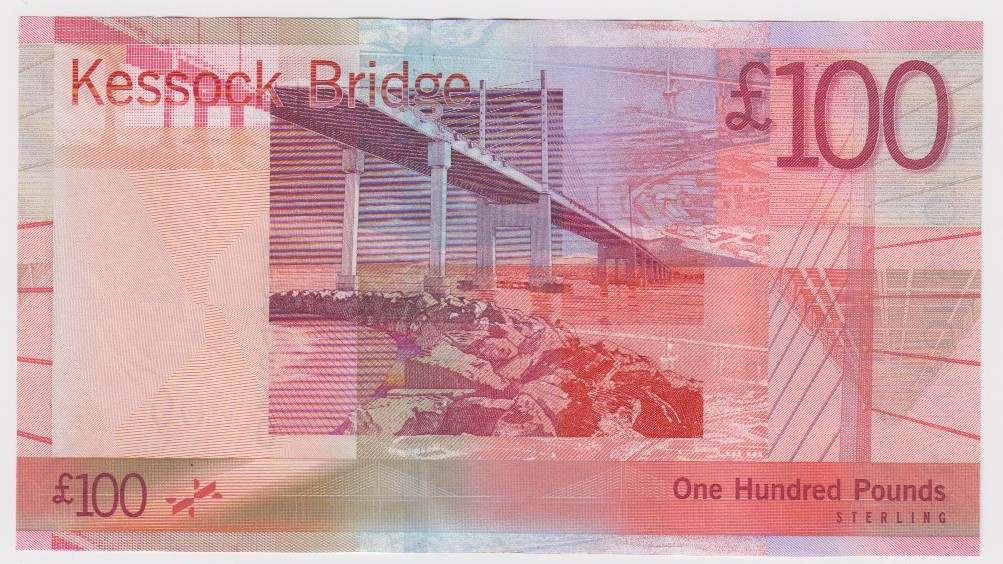 Scotland, Bank of Scotland 100 Pounds dated 19th January 2009, Kessock Bridge, a consecutively - Image 2 of 2