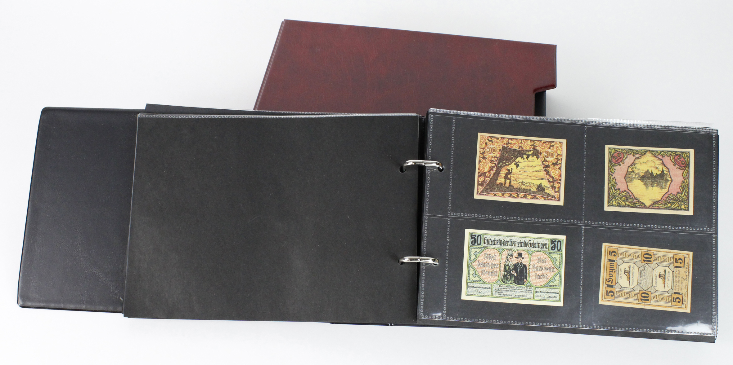 Germany Notgeld (203), a mixed collection of town/city sets and individual notes in a Notgeld album, - Image 2 of 2