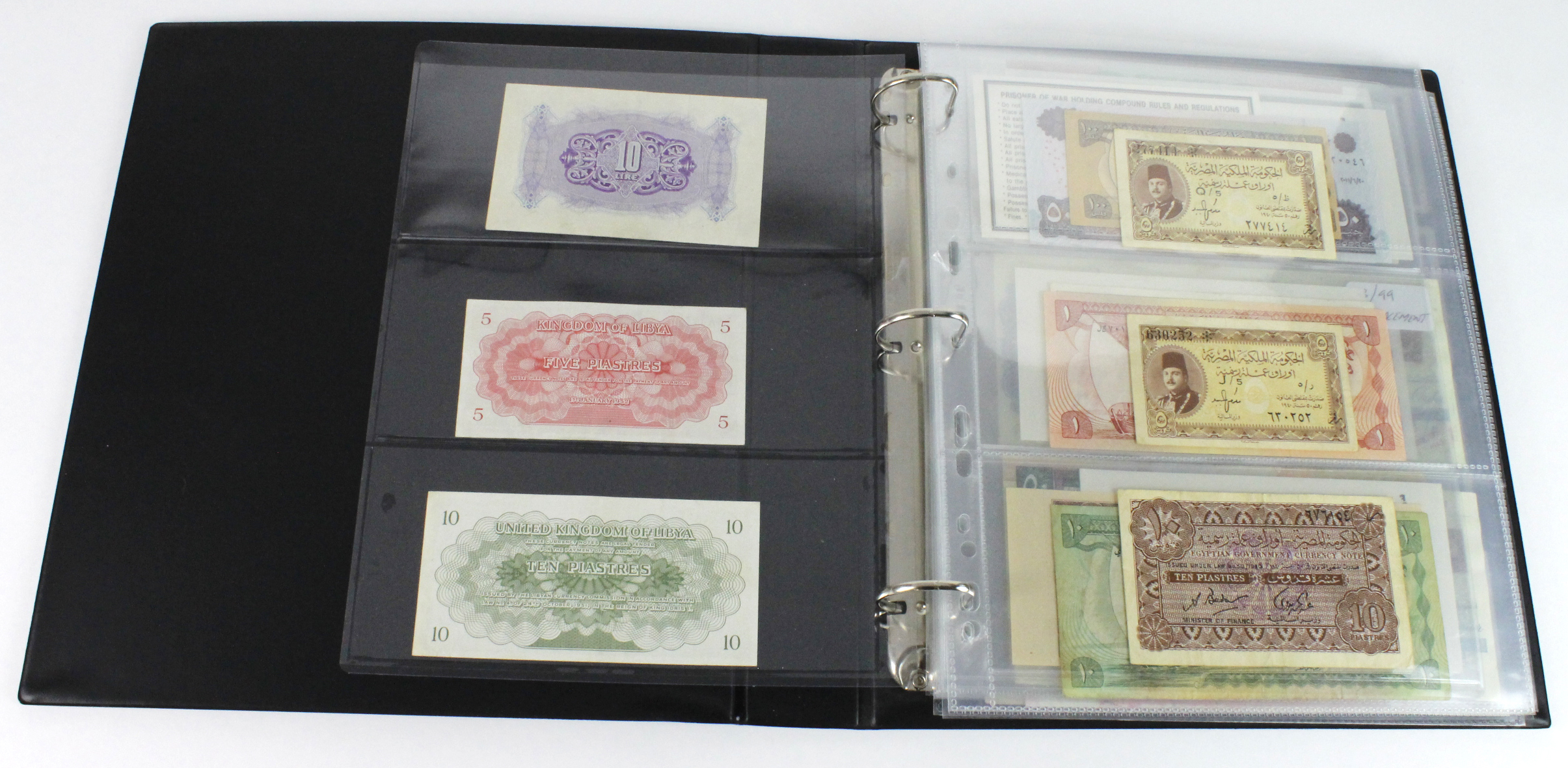 World, Middle East (84) in banknote album comprising Bahrain, Egypt, Iran, Iraq, Israel, Jordan, - Image 2 of 23