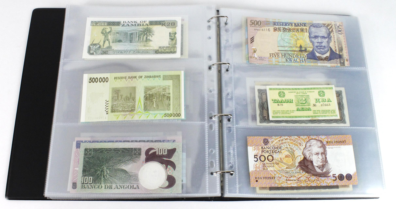 World (163), in banknote album including Bahamas, Spain, Sweden, Netherlands, Algeria, Macau, - Image 35 of 57