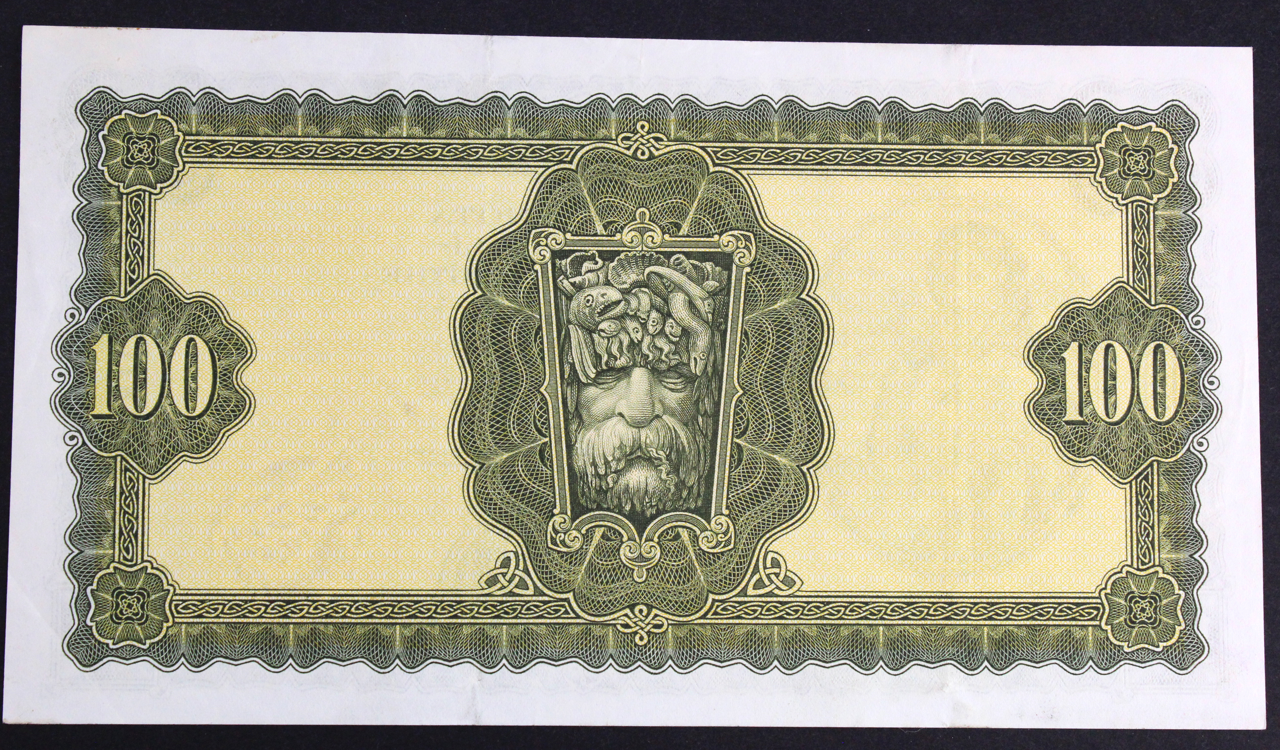 Ireland Republic 100 Pounds dated 10th April 1975, Lady Lavery portrait at left, signed Whitaker & - Image 2 of 2
