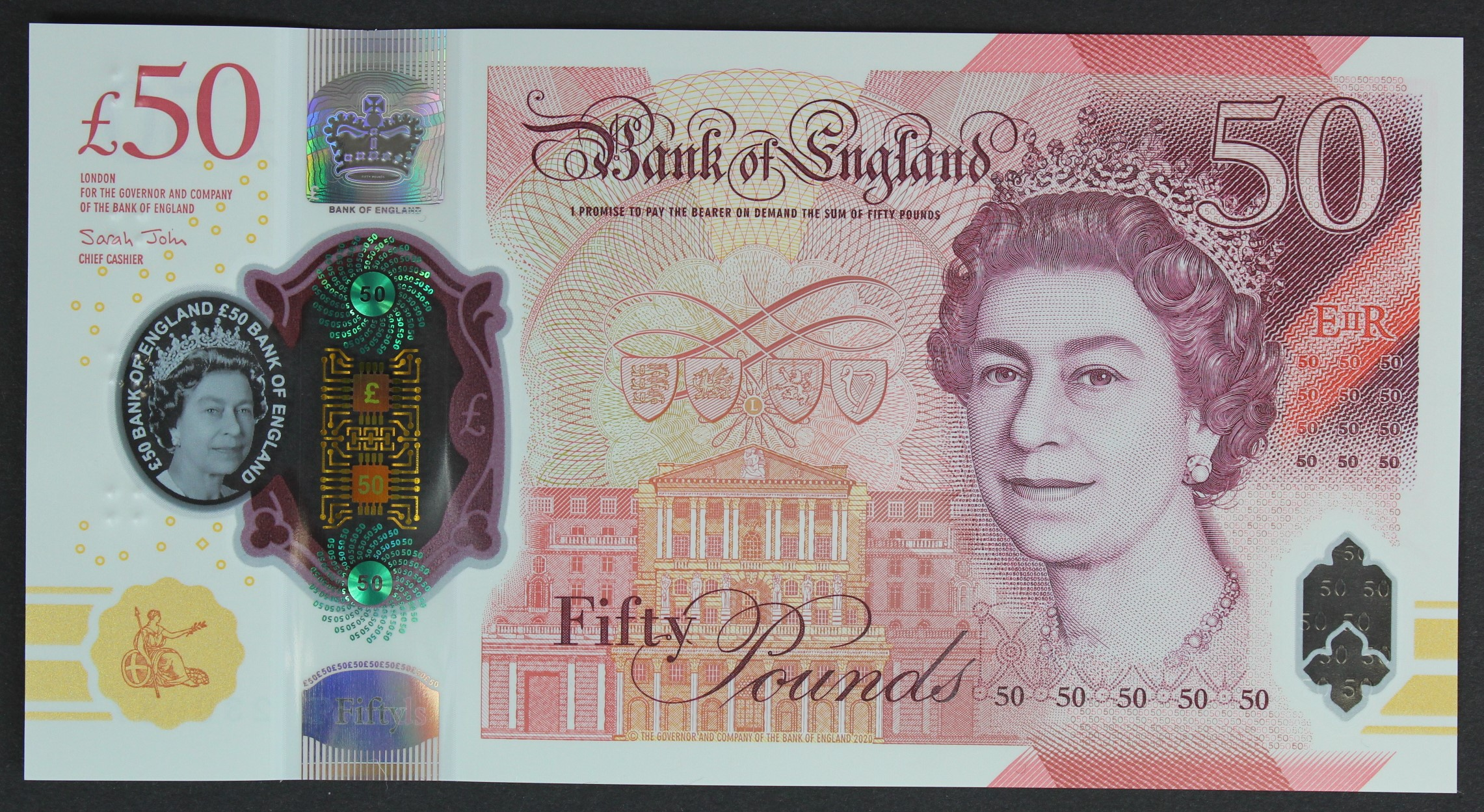 Sarah John 50 Pounds, new polymer issue with portrait of Alan Turing on reverse, a FIRST RUN ' - Image 2 of 2