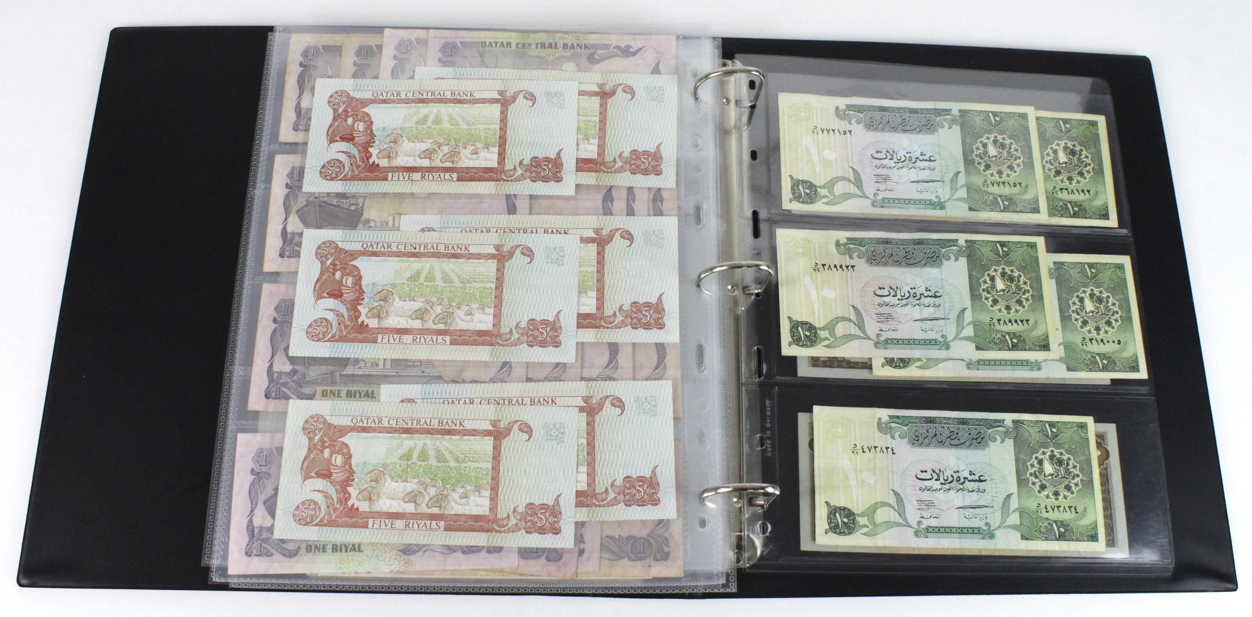 World, Middle East (84) in banknote album comprising Bahrain, Egypt, Iran, Iraq, Israel, Jordan, - Image 20 of 23