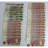 Bank of England (30), 10 Shillings to 20 Pounds with Signatures Hollom, Fforde, Page and Somerset,