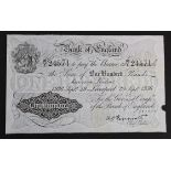 Peppiatt 100 Pounds white note dated 29th September 1936, LIVERPOOL branch issue, serial 96/Y