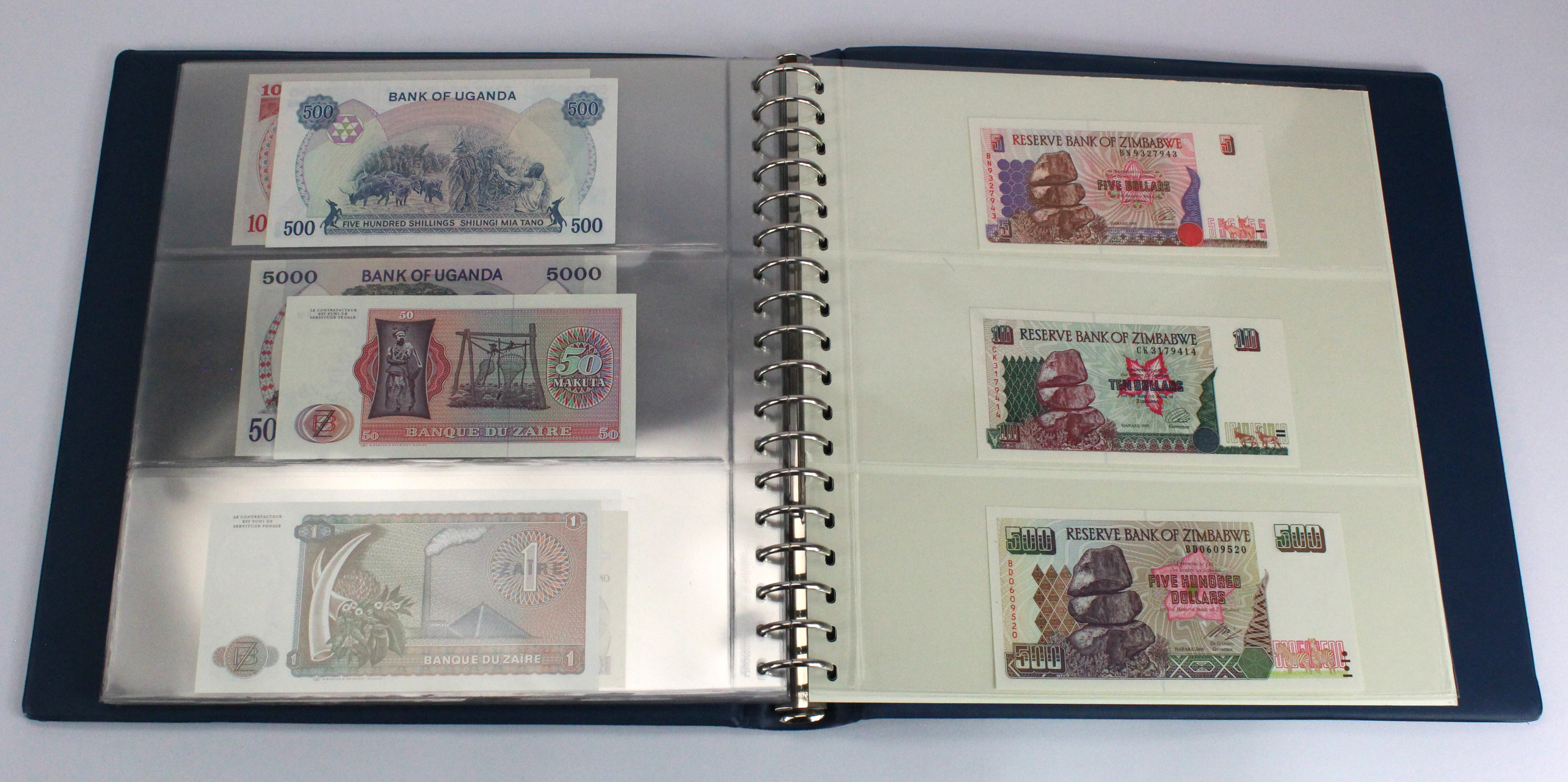 World, Africa (76) a good group of Uncirculated notes in Lindner album, Biafra, Gambia, Ghana, - Image 26 of 27