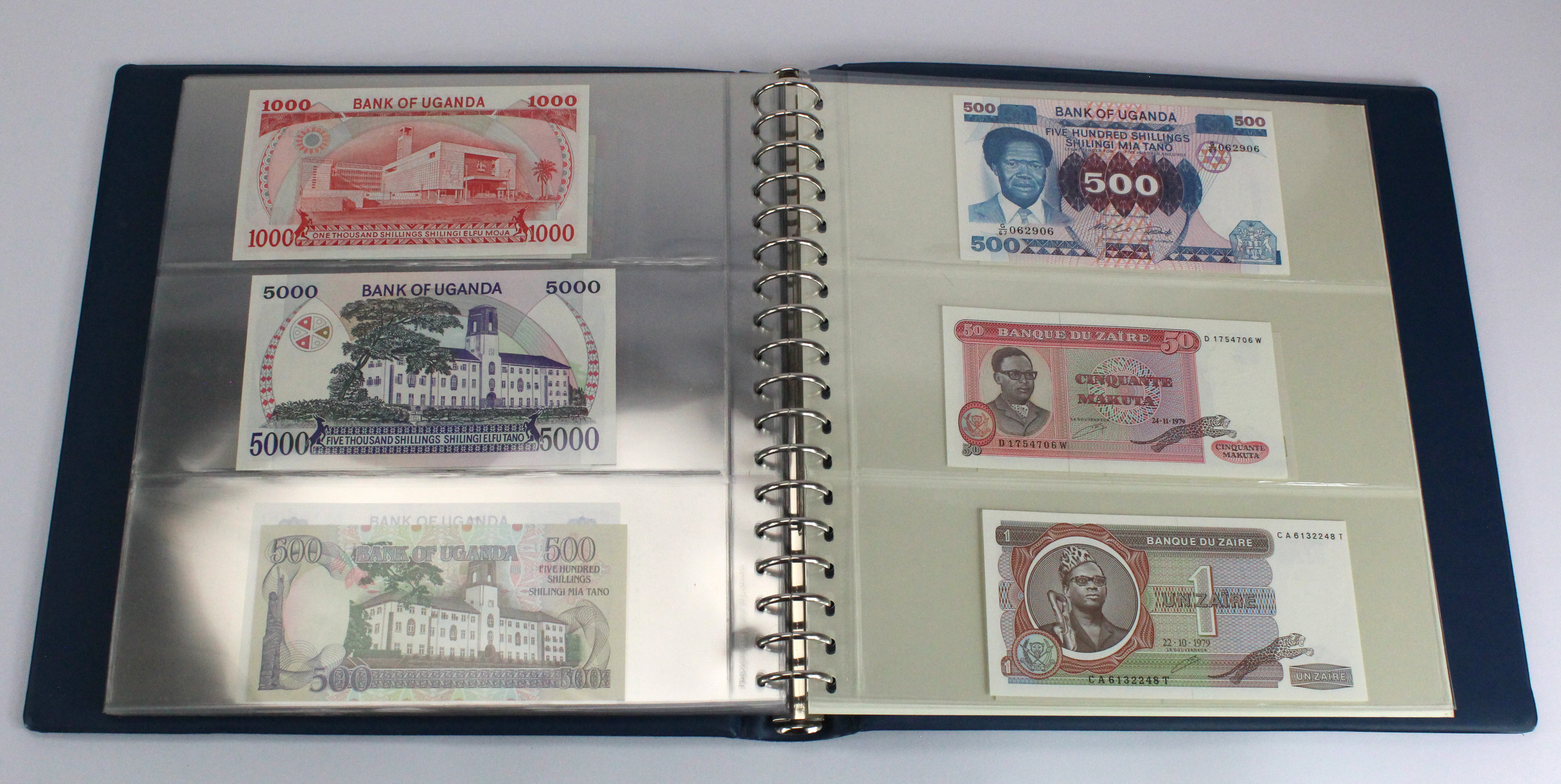 World, Africa (76) a good group of Uncirculated notes in Lindner album, Biafra, Gambia, Ghana, - Image 25 of 27
