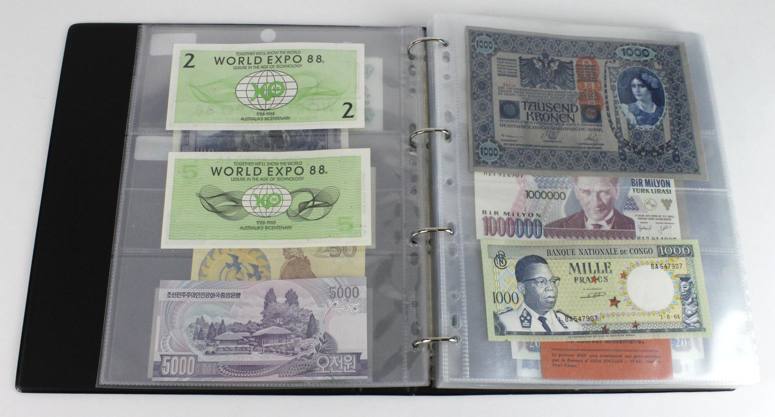 World (163), in banknote album including Bahamas, Spain, Sweden, Netherlands, Algeria, Macau, - Image 6 of 57
