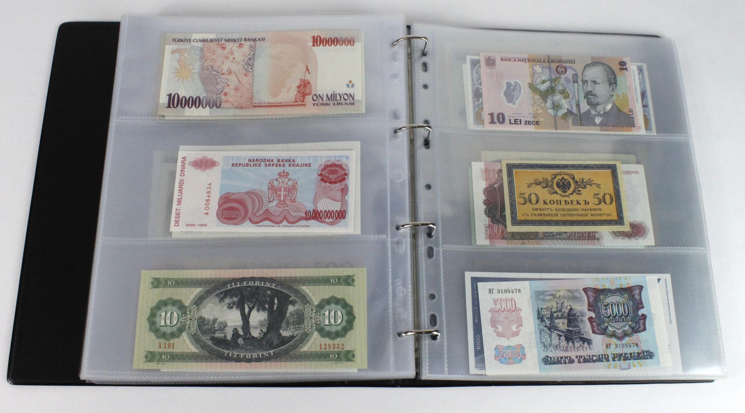World (163), in banknote album including Bahamas, Spain, Sweden, Netherlands, Algeria, Macau, - Image 42 of 57