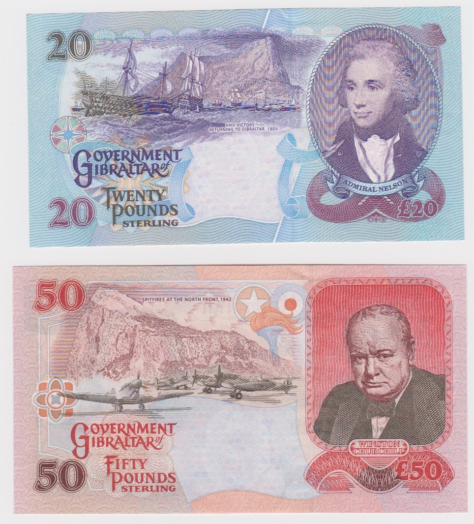 Gibraltar (2), 50 Pounds dated 1st December 2006 serial AA114833 (TBB B126b, Pick34a), 20 Pounds - Image 2 of 2