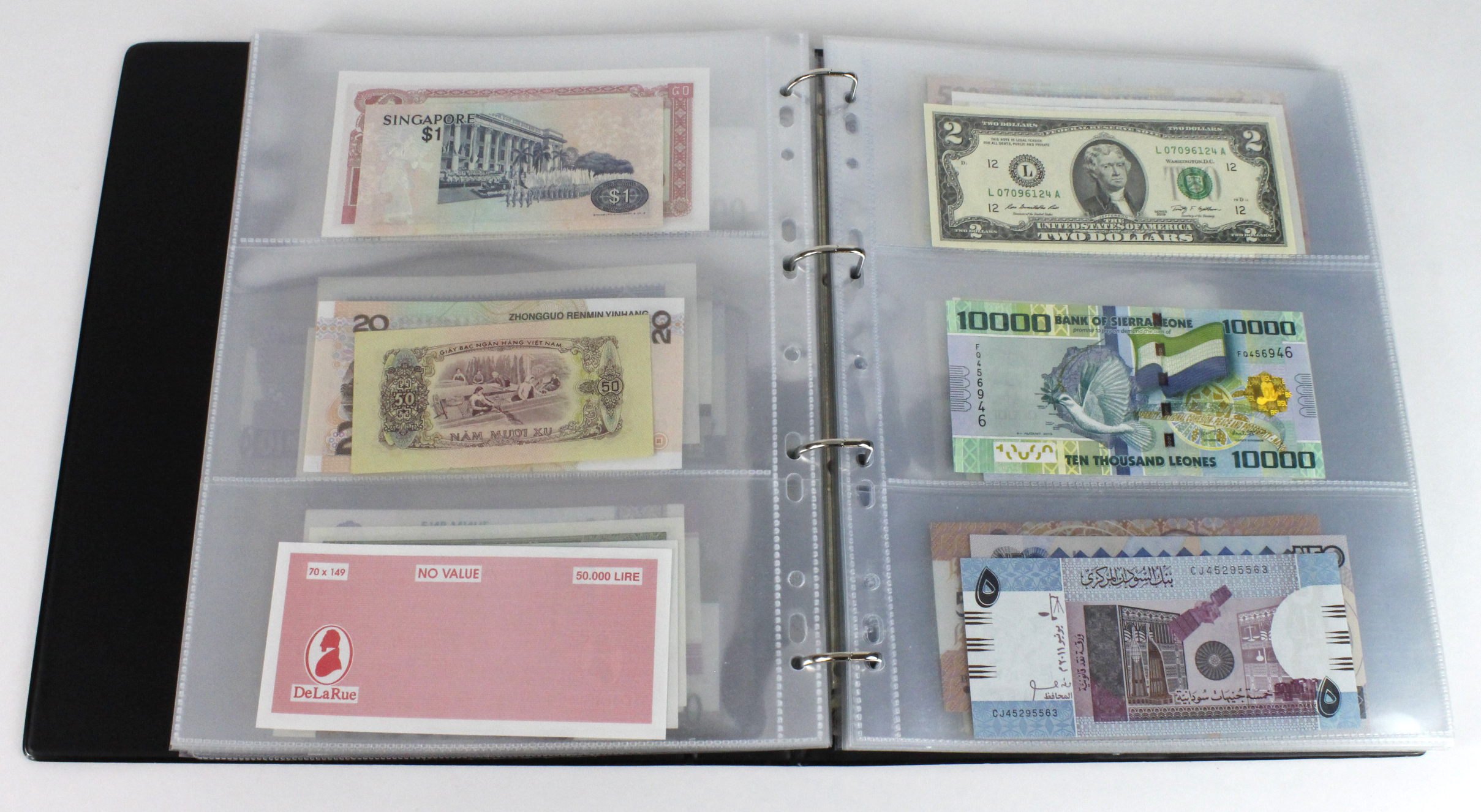World (163), in banknote album including Bahamas, Spain, Sweden, Netherlands, Algeria, Macau, - Image 32 of 57