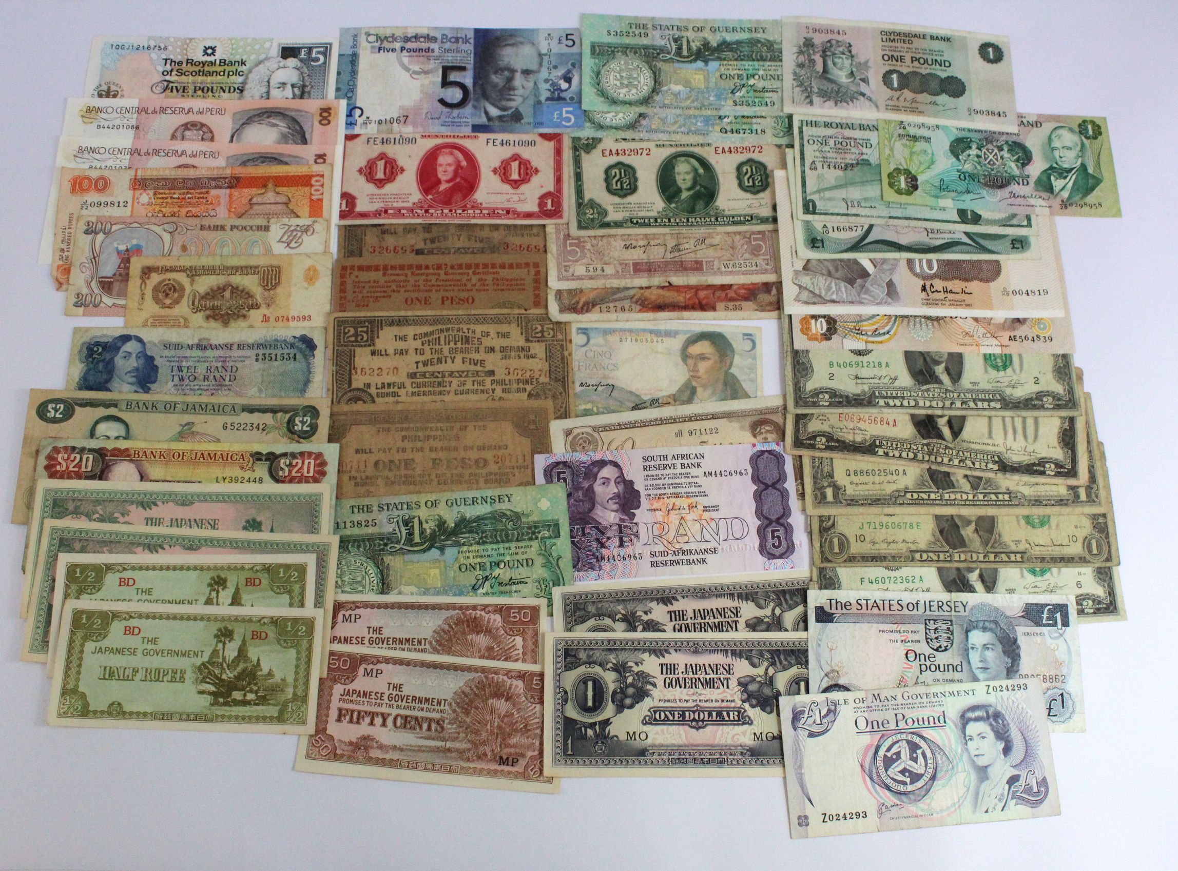 World (175), including a group of Scotland notes, Bahamas from 1960's, a bundle of 100 x British