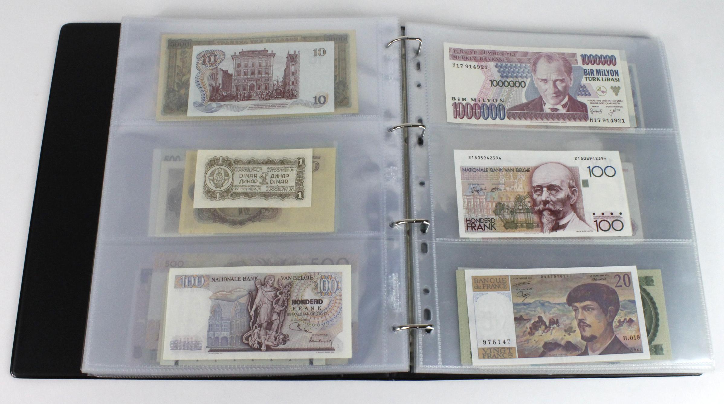 World (163), in banknote album including Bahamas, Spain, Sweden, Netherlands, Algeria, Macau, - Image 40 of 57
