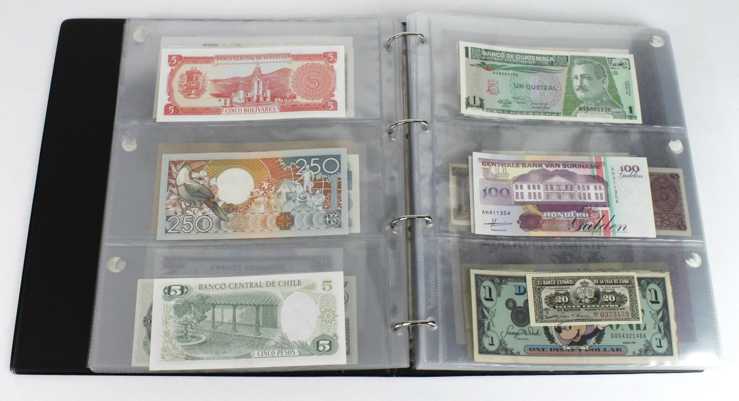 World (163), in banknote album including Bahamas, Spain, Sweden, Netherlands, Algeria, Macau, - Image 16 of 57